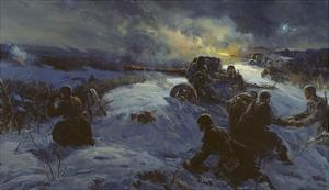 Night Operation, 1958 by Fyodor Usypenko