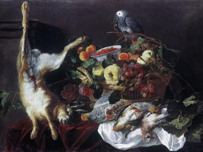 Fyt: Still Life with Parrot-Jan Fyt-Giclee Print
