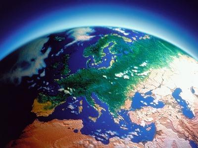 Earth atmosphere, ozone layer, computer graphic