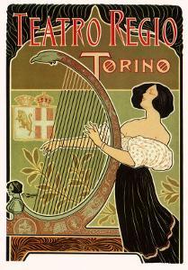 Teatro Regio, Torino: Theatre Royal de Turin Opera House, c.1898 by G. Boano