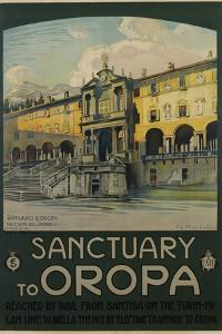 Sanctuary to Oropa Poster by G. Bozzalla