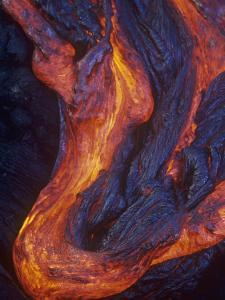 Pahoehoe Lava Flow from the Kilauea Volcano, Hawaii, USA by G. Brad Lewis