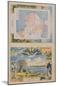 Map of French Possessions and Spheres of Influence in Africa and a View of the River Senegal by G. Dascher