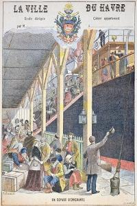The Departure of Emigrants from Le Havre, Front Cover of a Schoolbook by G. Dascher