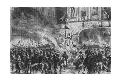 'Burning the Pope in Effigy at Temple Bar', c19th century