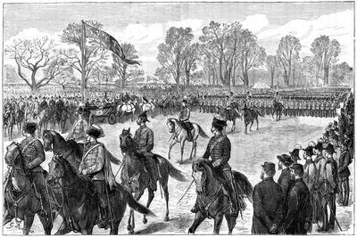Review in Windsor Great Park of the Troops from the Ashanti War, 1900