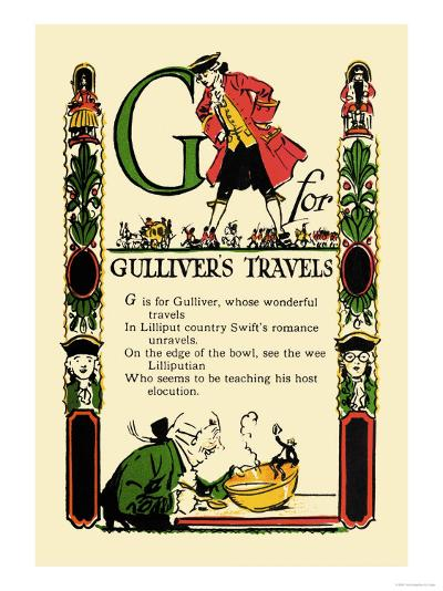 G for Gulliver's Travels-Tony Sarge-Art Print