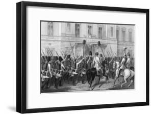 Queen Victoria Receiving the Guards at Buckingham Palace, 1857 by G Greatbach