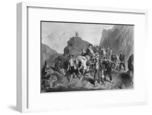 Removal of Wounded Soldiers from the Field of Battle, Crimean War by G Greatbach