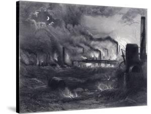 The Black Country Near Bilston, Staffordshire, 1869 by G Greatbach