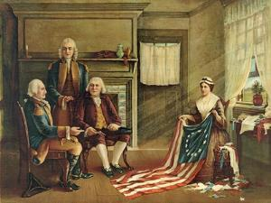 Birth of Our Nation's Flag, 1893 by G. H. Weisgerber