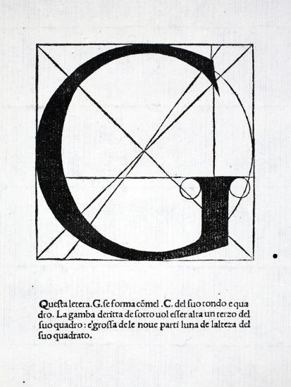 G, Illustration from 'Divina Proportione' by Luca Pacioli (C.1445-1517), Originally Pub. Venice,…-Leonardo da Vinci-Premium Giclee Print