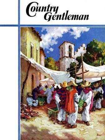 """Mexican Village Market,"" Country Gentleman Cover, June 1, 1938"