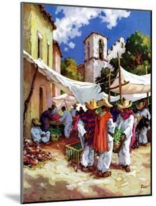 """""""Mexican Village Market,""""June 1, 1938 by G. Kay"""