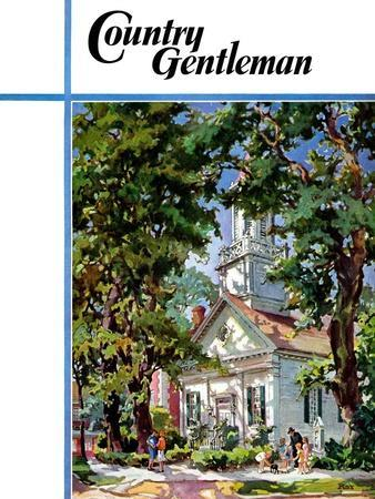 """Steepled Church,"" Country Gentleman Cover, April 1, 1939"