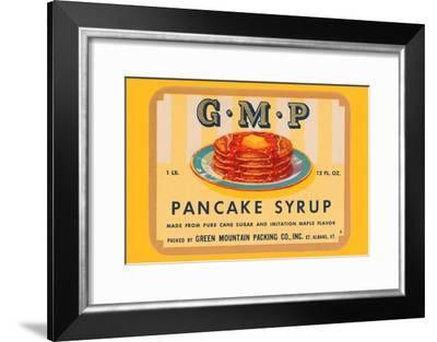 G.M.P. Pancake Syrup--Framed Art Print