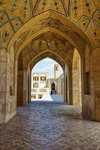 Agha Bozorg Mosque, Kashan, Isfahan Province, Islamic Republic of Iran, Middle East by G&M Therin-Weise