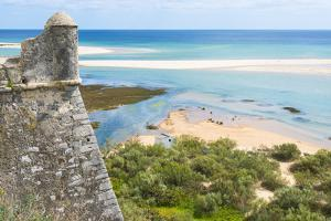 Cacelha Vela and Beach, Algarve, Portugal, Europe by G&M Therin-Weise