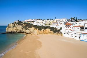 Carvoeiro and Beach, Algarve, Portugal, Europe by G&M Therin-Weise