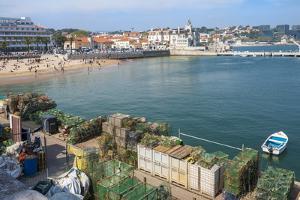 Cascais Pier and Beach, Cascais, Lisbon Coast, Portugal, Europe by G&M Therin-Weise