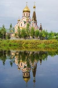 Church of the Exaltation of the Holy Cross, Almaty, Kazakhstan, Central Asia, Asia by G&M Therin-Weise