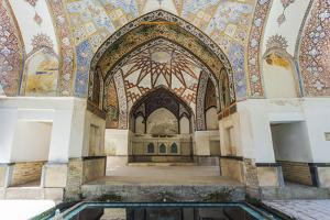 Fin Garden, Kushak pavilion, detail of the ceiling, Kashan, Isfahan Province, Iran by G&M Therin-Weise