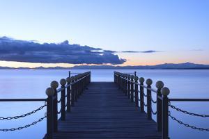 Lake Sevan, early morning, freshwater high-altitude lake, Gegharkunik Province, Armenia, Caucasus,  by G&M Therin-Weise