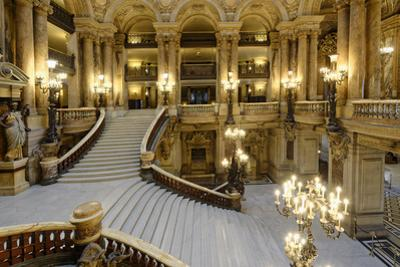 Opera Garnier, Grand Staircase, Paris, France by G & M Therin-Weise