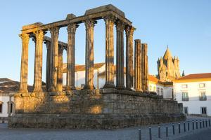 Roman Temple of Diana in Front of the Santa Maria Cathedral, UNESCO World Heritage Site, Evora by G&M Therin-Weise