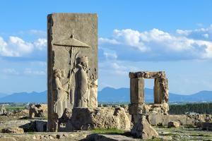 Ruins of the Hadish Palace, Persepolis, Fars Province, Islamic Republic of Iran, Middle East by G&M Therin-Weise