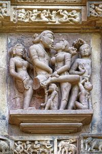 Sculptures on the walls of Lakshmana Temple, Khajuraho Group of Monuments, India by G&M Therin-Weise