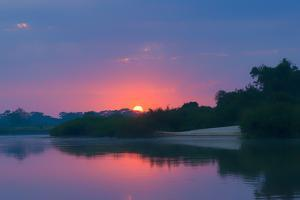 Sunrise over Cuiaba River, Pantanal, Mato Grosso State, Brazil, South America by G&M Therin-Weise