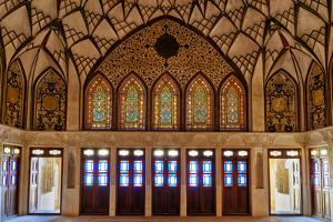Tabatabai House, stained-glass windows, Kashan, Isfahan Province, Islamic Republic of Iran by G&M Therin-Weise
