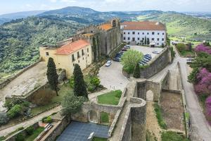 View from Palmela Castle over the Serra Da Arrabida, Setubal Peninsula, Lisbon Coast by G&M Therin-Weise