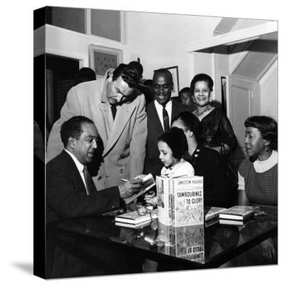 Langston Hughes, Adam C. Powell, Irene Fleming, Jean B. Hudson, Jobe Huntley - 1959