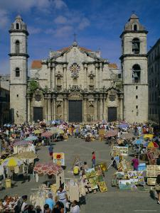 Cathedral, Plaza and Market, Havana, Cuba, West Indies, Central America by G Richardson