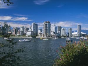 City Skyline from False Creek, Vancouver, British Columbia (B.C.), Canada, North America by G Richardson