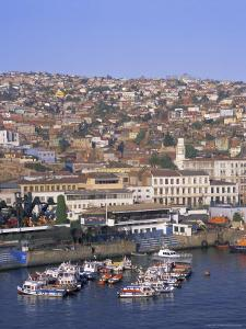 Harbour and City, Valparaiso, Chile, South America by G Richardson