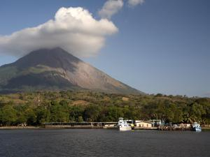 Moyogalpa Port and Conception Volcano, Ometepe Island, Nicaragua, Central America by G Richardson