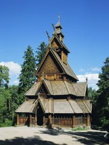 Stave Church, Folk Museum, Bygdoy, Oslo, Norway, Scandinavia, Europe by G Richardson