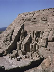 Temple of Re-Herakte Built for Ramses II, Abu Simbel, Unesco World Heritage Site, Nubia, Egypt by G Richardson