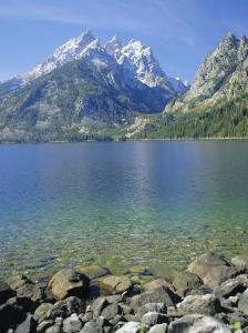 Tetons and Jenny Lake, Grand Teton National Park, Wyoming, USA by G Richardson