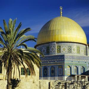 The Dome of the Rock, Muslim Shrine on Temple Mount, Jerusalem, Israel by G Richardson