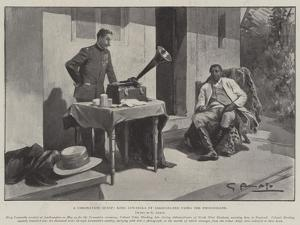 A Coronation Guest, King Lewanika of Barotseland Using the Phonograph by G.S. Amato