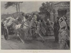 Ben-Hur, at Drury Lane, the Scene at the Fountain of Castalia by G.S. Amato
