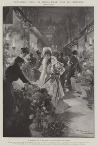 Picturesque Paris, the Flower Market Near the Madeleine by G.S. Amato