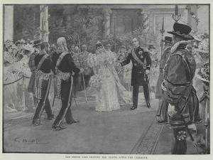 The Bridal Pair Leaving the Chapel after the Ceremony by G.S. Amato