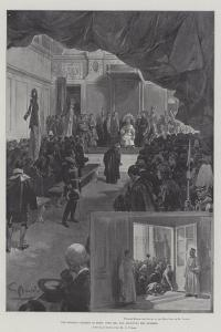 The English Pilgrims in Rome, Pope Leo XIII Receiving the Address by G.S. Amato