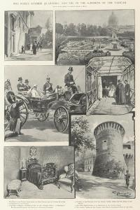 The Pope's Summer Quarters, Leo XIII in the Gardens of the Vatican by G.S. Amato