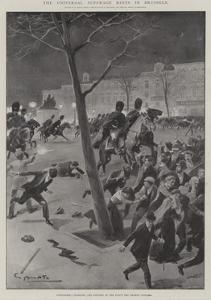 The Universal Suffrage Riots in Brussels by G.S. Amato